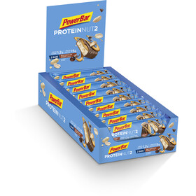 PowerBar Protein Nut 2 Bar Caja 18x2x22,5g, Milk Chocolate Peanut